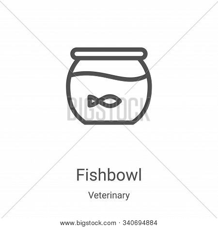 fishbowl icon isolated on white background from veterinary collection. fishbowl icon trendy and mode