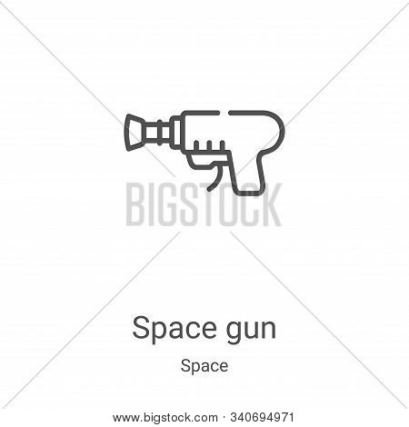 space gun icon isolated on white background from space collection. space gun icon trendy and modern