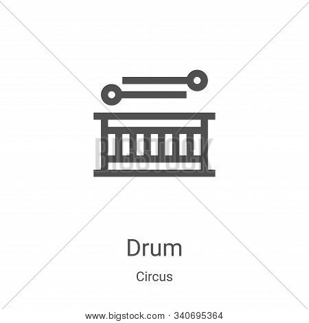 drum icon isolated on white background from circus collection. drum icon trendy and modern drum symb