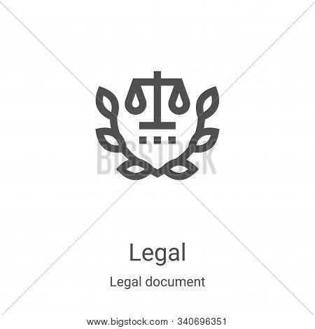 legal icon isolated on white background from legal document collection. legal icon trendy and modern