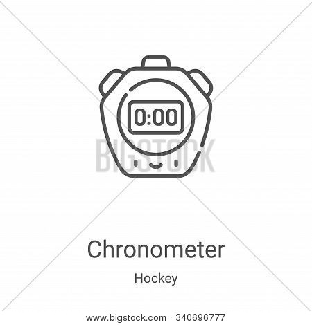 chronometer icon isolated on white background from hockey collection. chronometer icon trendy and mo