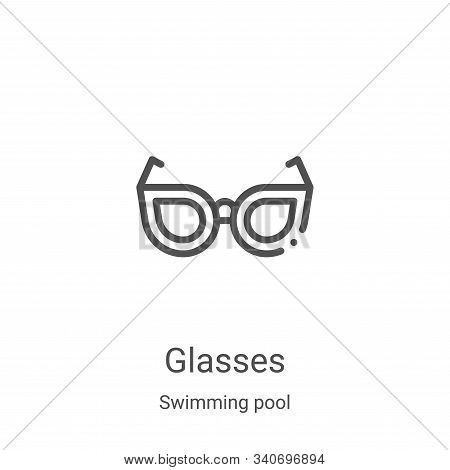glasses icon isolated on white background from swimming pool collection. glasses icon trendy and mod