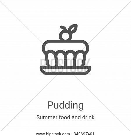 pudding icon isolated on white background from summer food and drink collection. pudding icon trendy