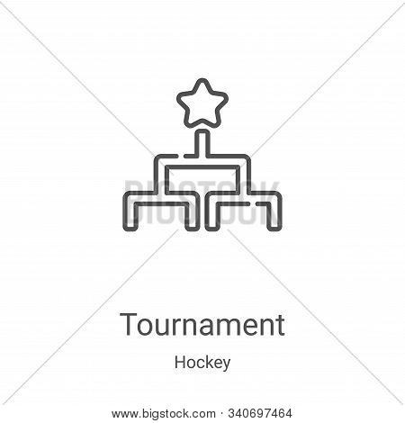 tournament icon isolated on white background from hockey collection. tournament icon trendy and mode