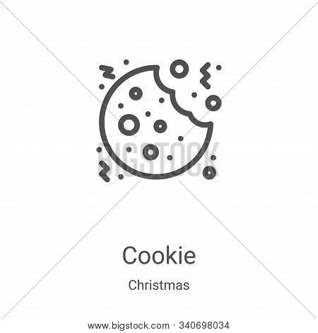 cookie icon isolated on white background from christmas collection. cookie icon trendy and modern co