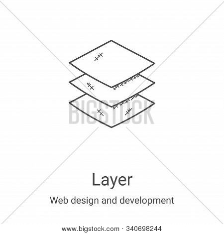 layer icon isolated on white background from web design and development collection. layer icon trend