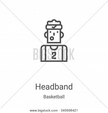 headband icon isolated on white background from basketball collection. headband icon trendy and mode