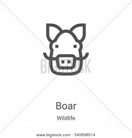 boar icon isolated on white background from wildlife collection. boar icon trendy and modern boar sy