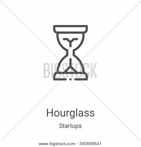 hourglass icon isolated on white background from startups collection. hourglass icon trendy and mode