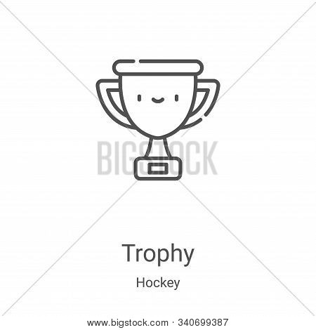 trophy icon isolated on white background from hockey collection. trophy icon trendy and modern troph