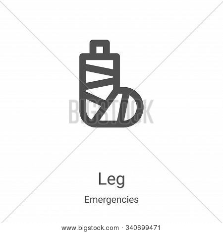 leg icon isolated on white background from emergencies collection. leg icon trendy and modern leg sy