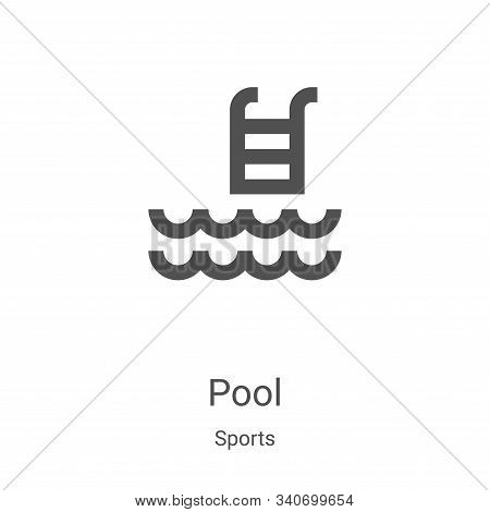 pool icon isolated on white background from sports collection. pool icon trendy and modern pool symb
