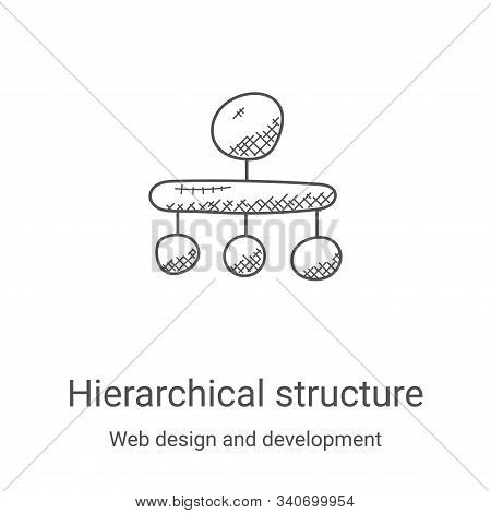 hierarchical structure icon isolated on white background from web design and development collection.