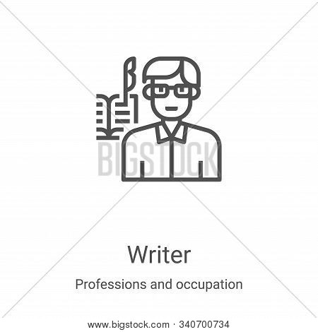 writer icon isolated on white background from professions and occupation collection. writer icon tre