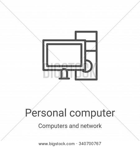 personal computer icon isolated on white background from computers and network collection. personal