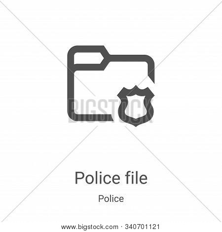police file icon isolated on white background from police collection. police file icon trendy and mo
