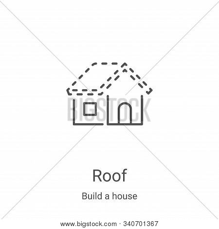 roof icon isolated on white background from build a house collection. roof icon trendy and modern ro
