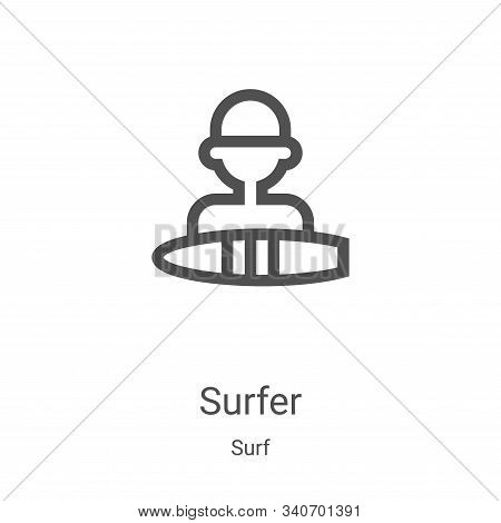 surfer icon isolated on white background from surf collection. surfer icon trendy and modern surfer
