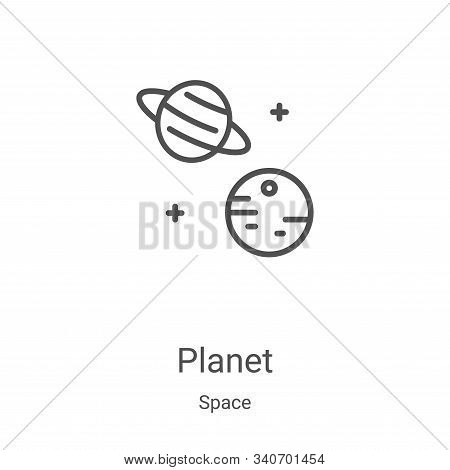 planet icon isolated on white background from space collection. planet icon trendy and modern planet