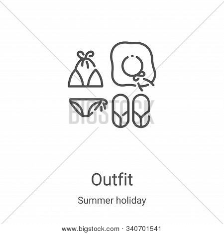 Outfit icon isolated on white background from summer holiday collection. Outfit icon trendy and mode