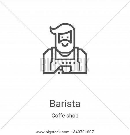 barista icon isolated on white background from coffe shop collection. barista icon trendy and modern