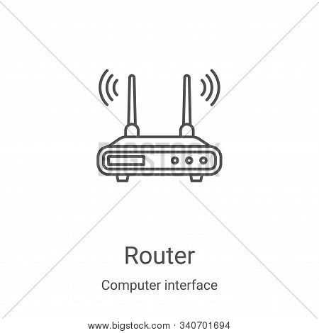 router icon isolated on white background from computer interface collection. router icon trendy and
