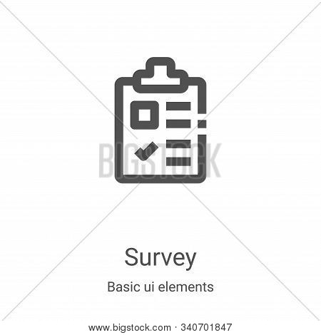 survey icon isolated on white background from basic ui elements collection. survey icon trendy and m