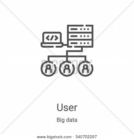 user icon isolated on white background from big data collection. user icon trendy and modern user sy