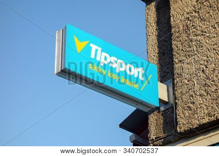 Ostrava, Czechia - December 20, 2019: The Banner Of The Tipsport Betting Company Where Gamers Can Be