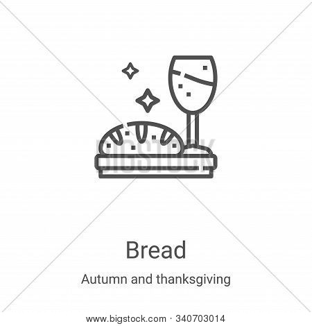 bread icon isolated on white background from autumn and thanksgiving collection. bread icon trendy a