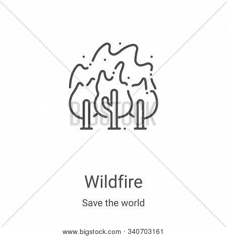 wildfire icon isolated on white background from save the world collection. wildfire icon trendy and