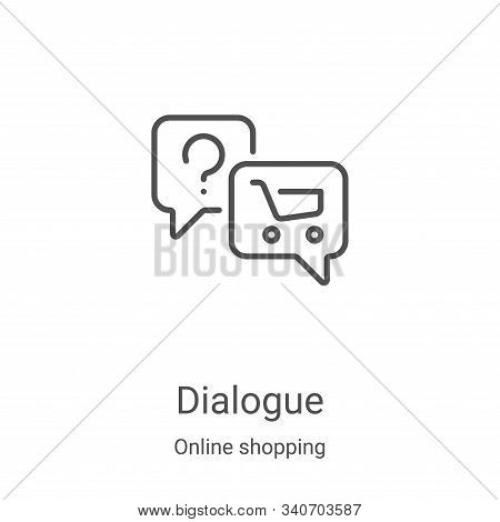 dialogue icon isolated on white background from online shopping collection. dialogue icon trendy and