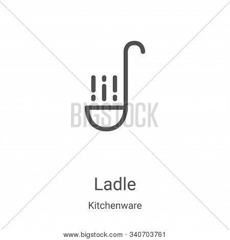 ladle icon isolated on white background from kitchenware collection. ladle icon trendy and modern la