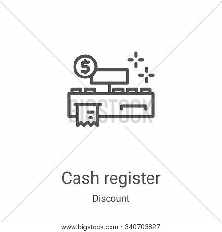 cash register icon isolated on white background from discount collection. cash register icon trendy