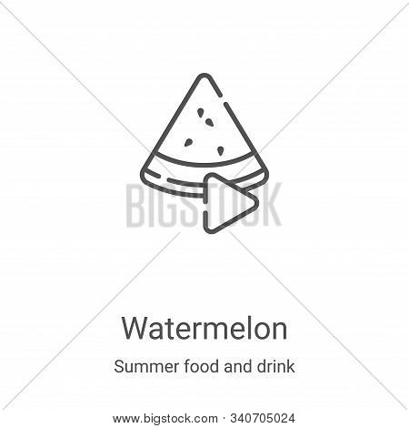 watermelon icon isolated on white background from summer food and drink collection. watermelon icon