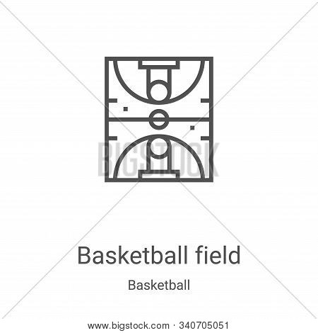 basketball field icon isolated on white background from basketball collection. basketball field icon