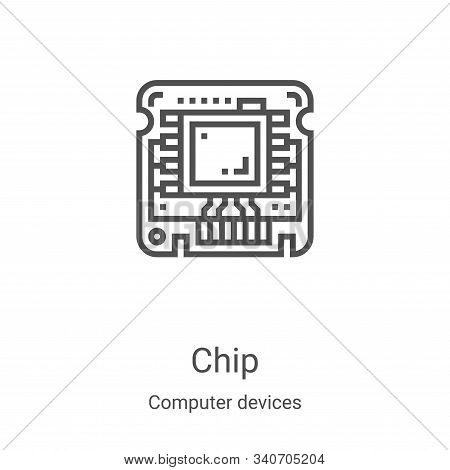 chip icon isolated on white background from computer devices collection. chip icon trendy and modern