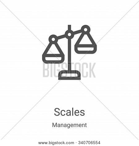 scales icon isolated on white background from management collection. scales icon trendy and modern s