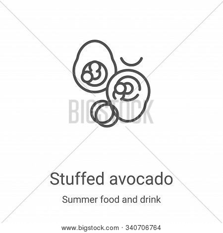 stuffed avocado icon isolated on white background from summer food and drink collection. stuffed avo