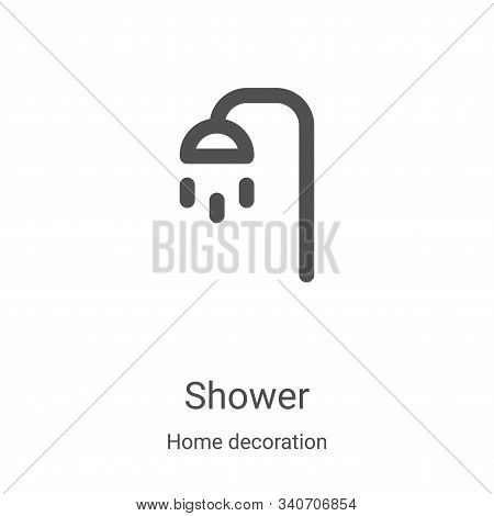 shower icon isolated on white background from home decoration collection. shower icon trendy and mod