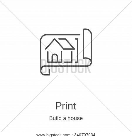 blueprint icon isolated on white background from build a house collection. blueprint icon trendy and