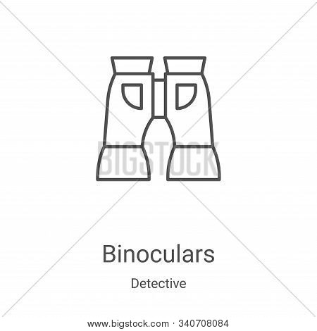 binoculars icon isolated on white background from detective collection. binoculars icon trendy and m