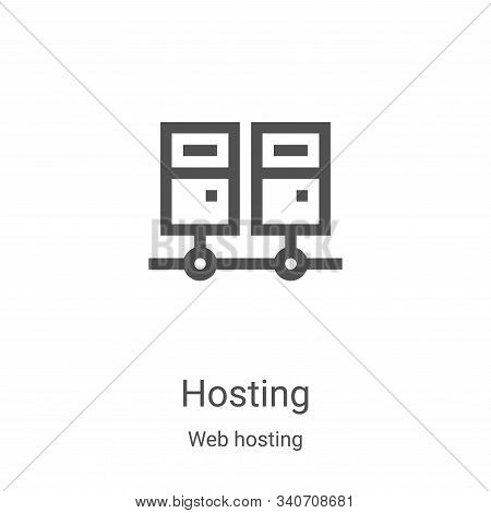 hosting icon isolated on white background from web hosting collection. hosting icon trendy and moder