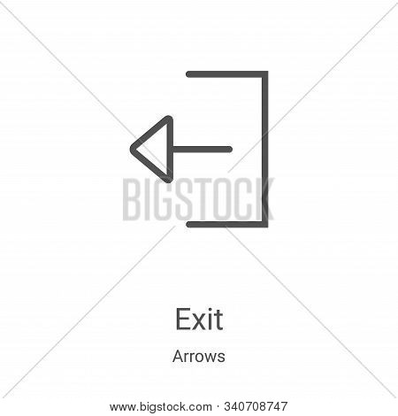 exit icon isolated on white background from arrows collection. exit icon trendy and modern exit symb