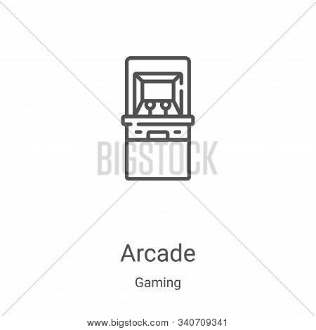 arcade icon isolated on white background from gaming collection. arcade icon trendy and modern arcad
