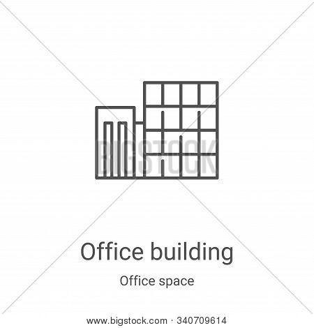 office building icon isolated on white background from office space collection. office building icon