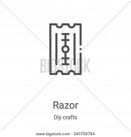 razor icon isolated on white background from diy crafts collection. razor icon trendy and modern raz