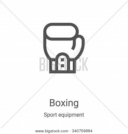 boxing icon isolated on white background from sport equipment collection. boxing icon trendy and mod