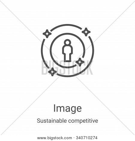 image icon isolated on white background from sustainable competitive advantage collection. image ico