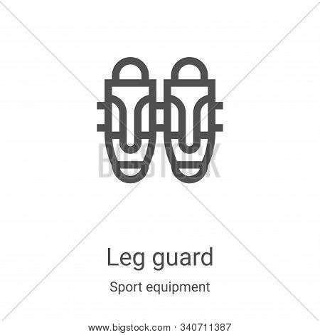 leg guard icon isolated on white background from sport equipment collection. leg guard icon trendy a